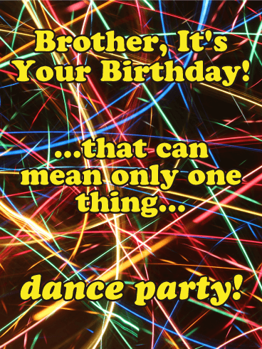 Lets Dance Happy Birthday Card For Brother Birthday Greeting