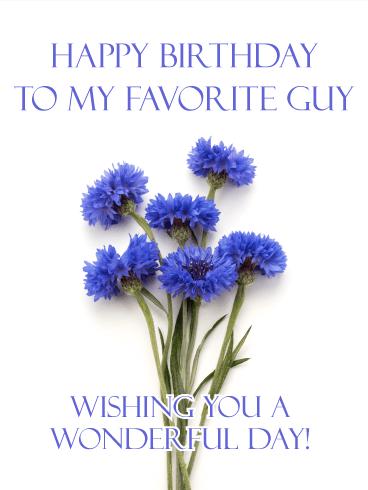 To My Favorite Guy Happy Birthday Card For Him Birthday