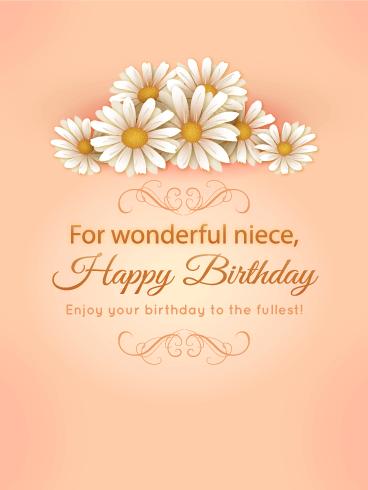 For my wonderful niece birthday daisy flower card birthday for my wonderful niece birthday daisy flower card m4hsunfo
