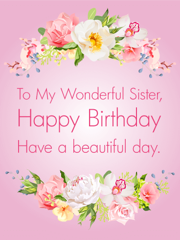 Gorgeous flowers happy birthday card for sister birthday gorgeous flowers happy birthday card for sister m4hsunfo