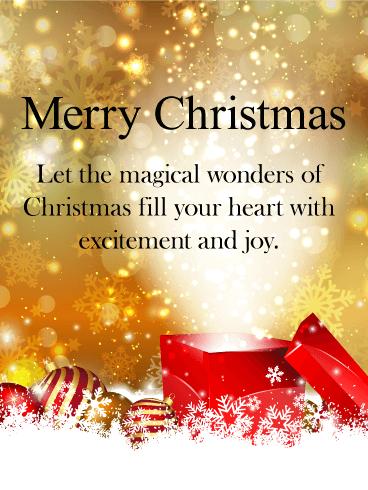 magical christmas card - Merry Christmas Card