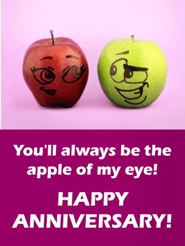 Apple of my eye funny anniversary card birthday greeting cards apple of my eye funny anniversary card m4hsunfo