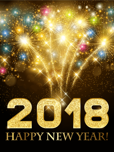 colorful new year fireworks card 2019 birthday greeting cards by davia