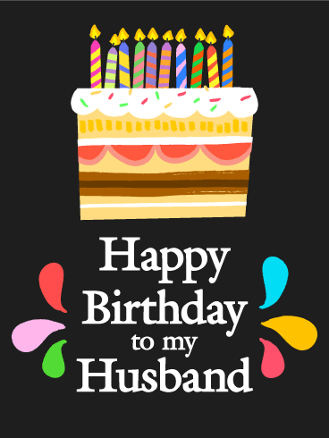 Sweet Surprise Happy Birthday Card For Husband Birthday