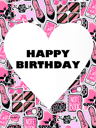 Exclusively For Girls Happy Birthday Card Birthday Greeting