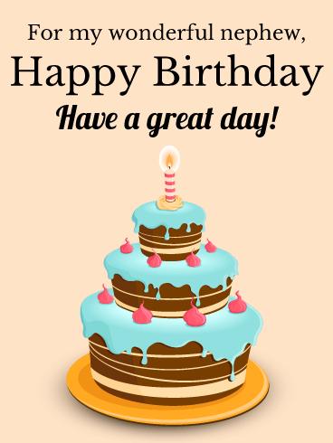 For My Wonderful Nephew Happy Birthday Card Birthday Greeting