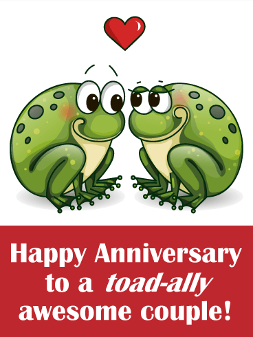 Two loving toad funny anniversary card birthday greeting cards two loving toad funny anniversary card m4hsunfo
